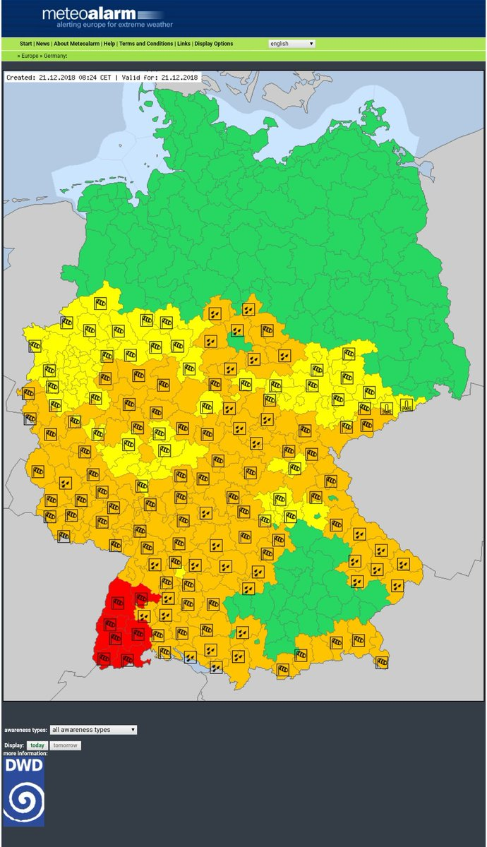 Map Of Germany Today.Vost Europe Smem On Twitter Redalert Severeweather