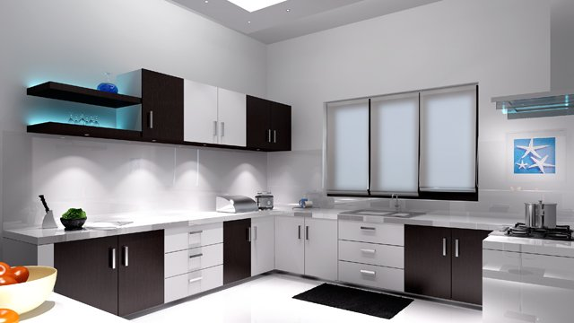 Dinner is served - Get L shaped modular kitchen in White Glossy and Matte Black finish. #interiordesign #decoration #luxury #designinspiration #interiorlovers #finditstyleit #modernhome #interiordesire #interiordetails #housegoals #interior_and_living #architecture #luxuryhome
