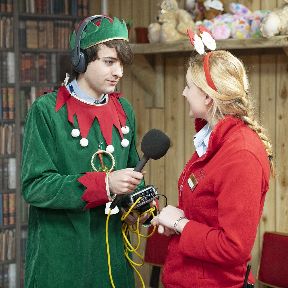 Britishgardencentres On Twitter Elf In Training Bgcentres With Hjparkhill For Bbcradiolincs And We Think He Is Doing A Great Job In Santa S Grotto At Brigg Garden Centre Https T Co Ub7yrkgvik