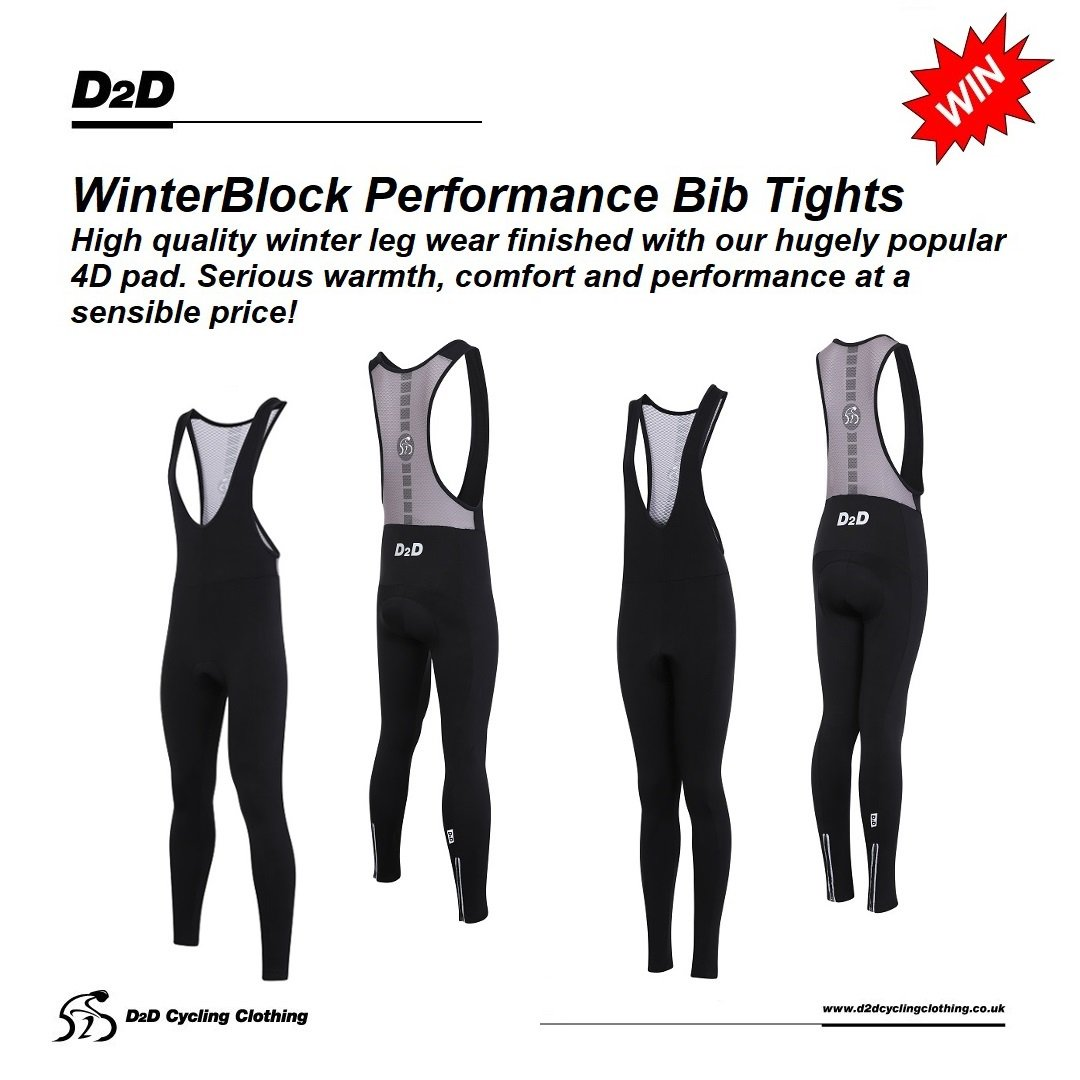 Christmas #Competition time! For a chance to #win a pair of our new Men's or Ladies WinterBlock Performance bib tights, simply FOLLOW US and RETWEET this tweet! Draw will be on Boxing Day at 8pm. T&C on website. #freebiefriday http://www.d2dcyclingclothing.co.uk