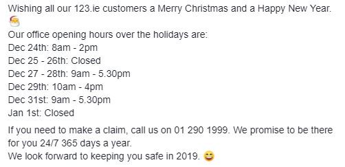 If you need to make a claim, call us on 012901999. We promise to be there for you 24/7 365 days a year. We look forward to keeping you safe in ...