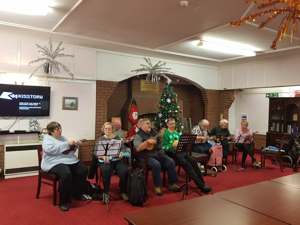 Our ukulele group played a gig for our friends at Alfred Stocks Court this week. Lovely afternoon with a great audience.