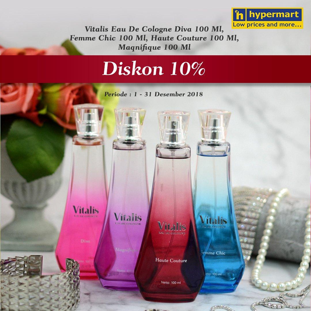 di bulan Desember ini dengan wangi menawan dari Vitalis Eau De Cologne.
