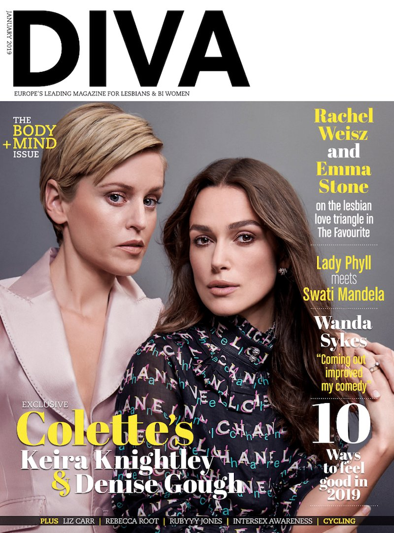 😍 Our stunning new issue is out! Feat: @ColetteMovie's #KeiraKnightley & #DeniseGough, @the_favourite's #EmmaStone & #RachelWeisz, @iamwandasykes, @thelizcarr, @rebeccaroot1969 and more! Get yours at http://divadirect.info / http://divadigital.co.uk! 📸 @lezliandrose