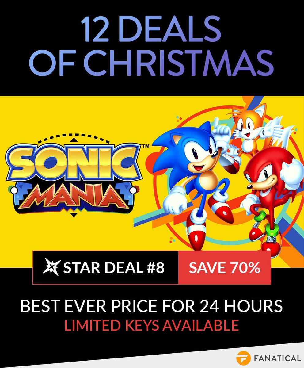 Sonic Christmas Hours.Fanatical On Twitter Gotta Go Fast To Get This Sonic Mania Deal