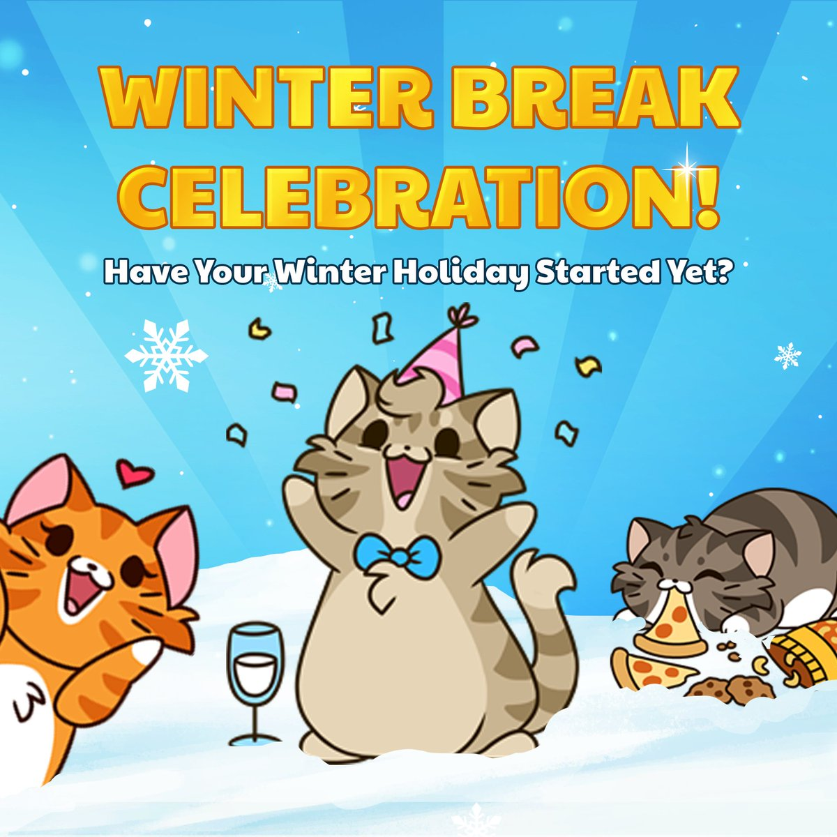 When Does Christmas Break Start.Castle Cats On Twitter When Does Your Winter Break Start