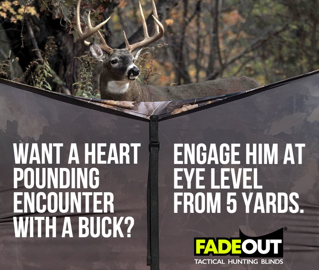 Fall Fusion™  #1 mobile turkey ground blind FadeOut Hunting Blind