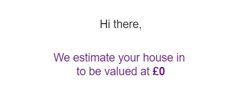 Thanks Zoopla