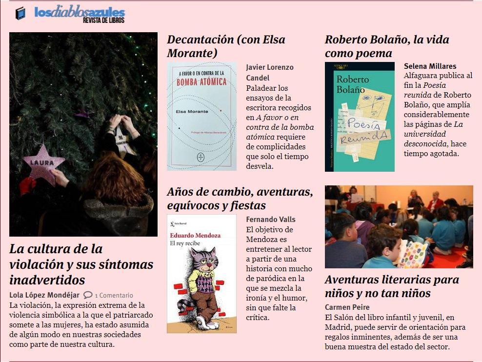 No te pierdas el nuevo número de #LosDiablosAzulez, la revista de libros de @_infoLibre http://ow.ly/QK8E30n4ntX