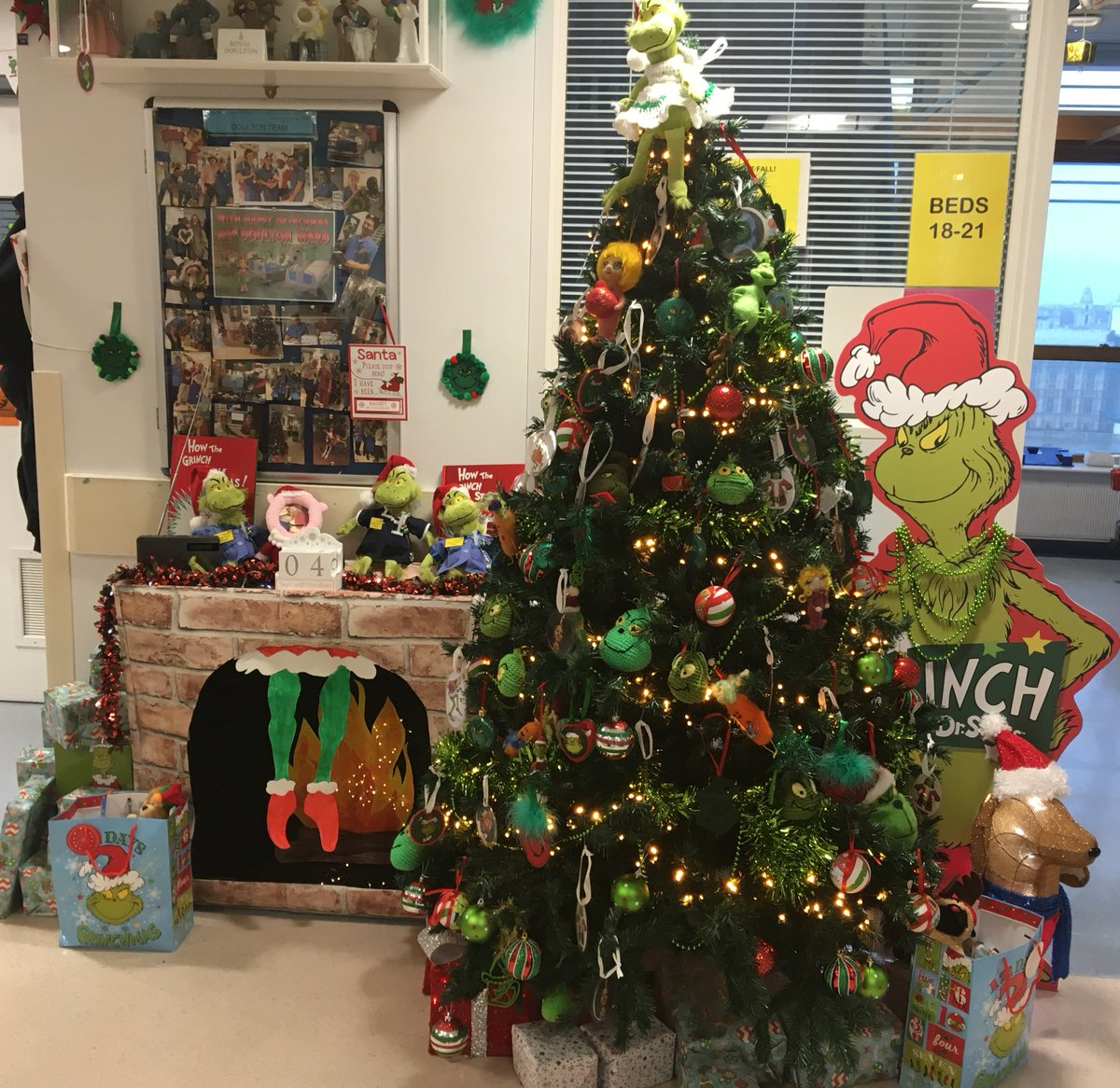 Grinch Christmas Decorations Hospital