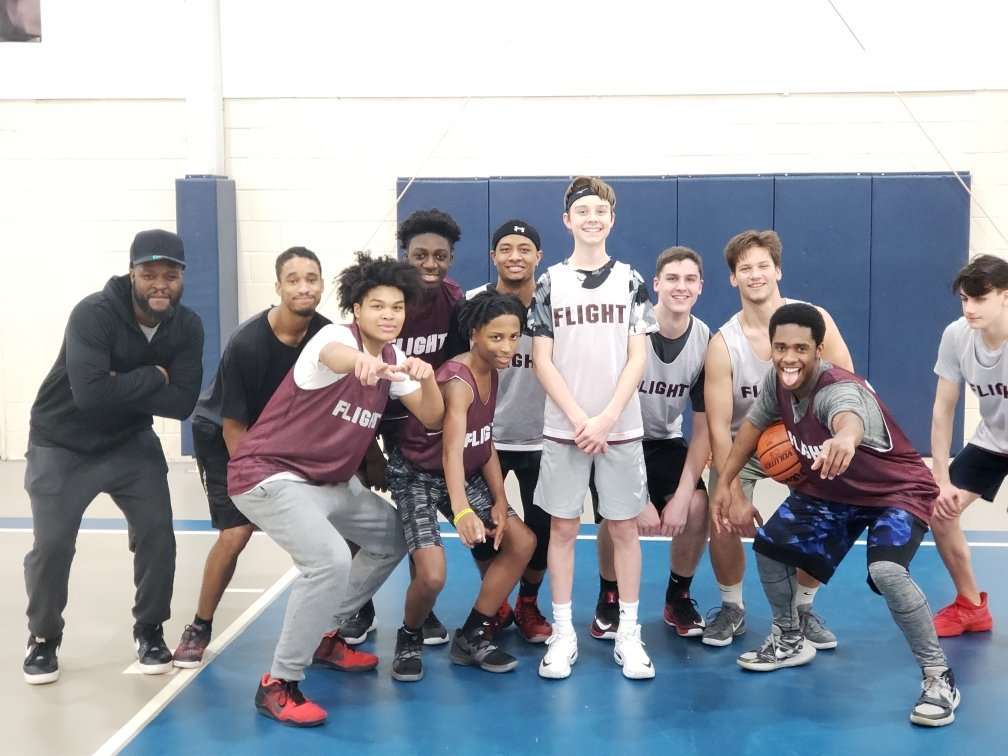 """We had a birthday basketball celebration for """"The Big O"""" . Happy Birthday Owen!!!! I am blessed to be your coach and our program is better because of your family.Thank you to our alumni players for coming back to """"police your program"""".GO FLIGHT !"""
