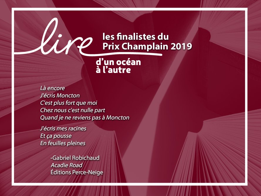 Refc On Twitter Finaliste Au Prix Champlain 2019 Acadie