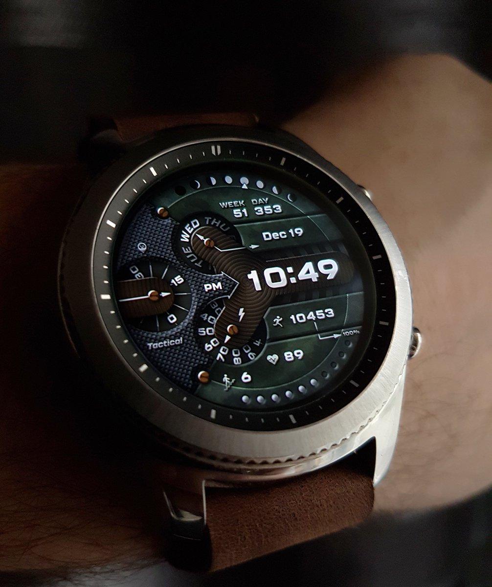 working on Broda Tactical #Samsung #GearS3 #GalaxyWatch