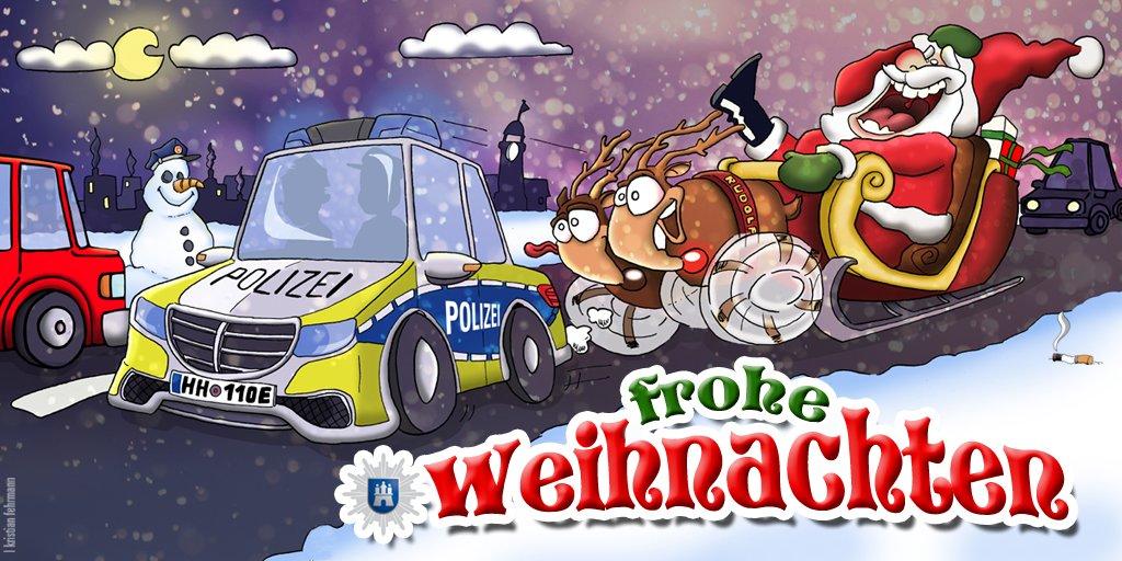 Comic Frohe Weihnachten.Polizei Hamburg On Twitter Wir Wünschen Frohe Weihnachten Viele
