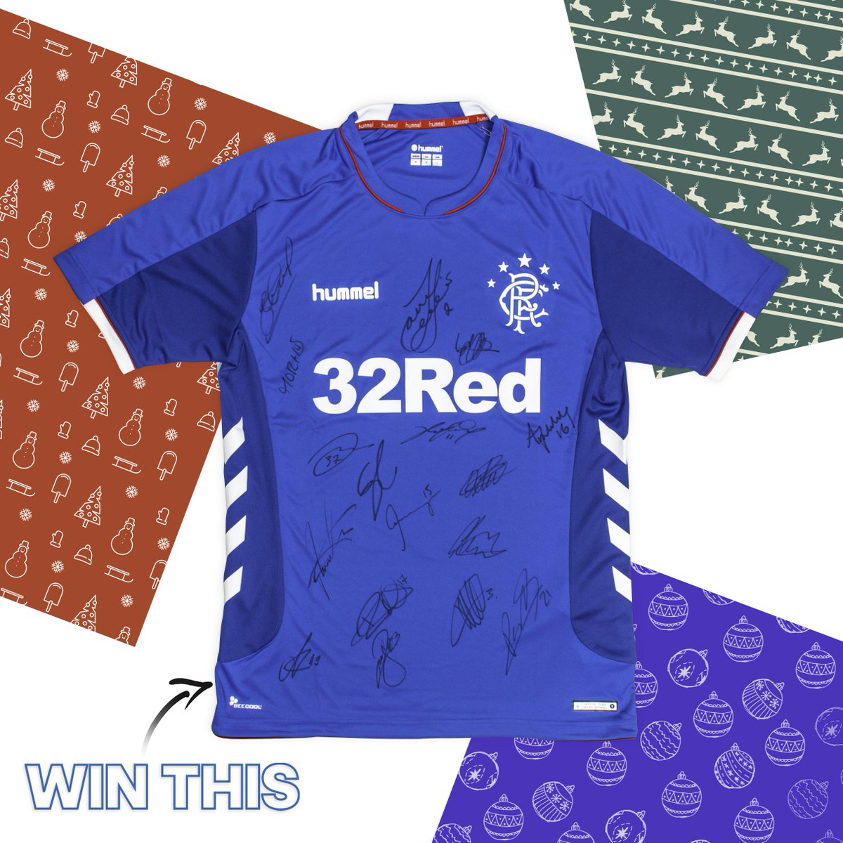 🎁🎄OUR FINAL GIVEAWAY🎄🎁  For our final giveaway... how do you fancy winning a signed 2018/19 @RangersFC home top?  TO ENTER & WIN THE SIGNED JERSEY:  ❤️ LIKE THIS TWEET 👍🏼 FOLLOW US 💬 RT  Extra entries via Facebook & Instagram!  Winner announced Christmas Eve! Go, Go, Go! ⏰