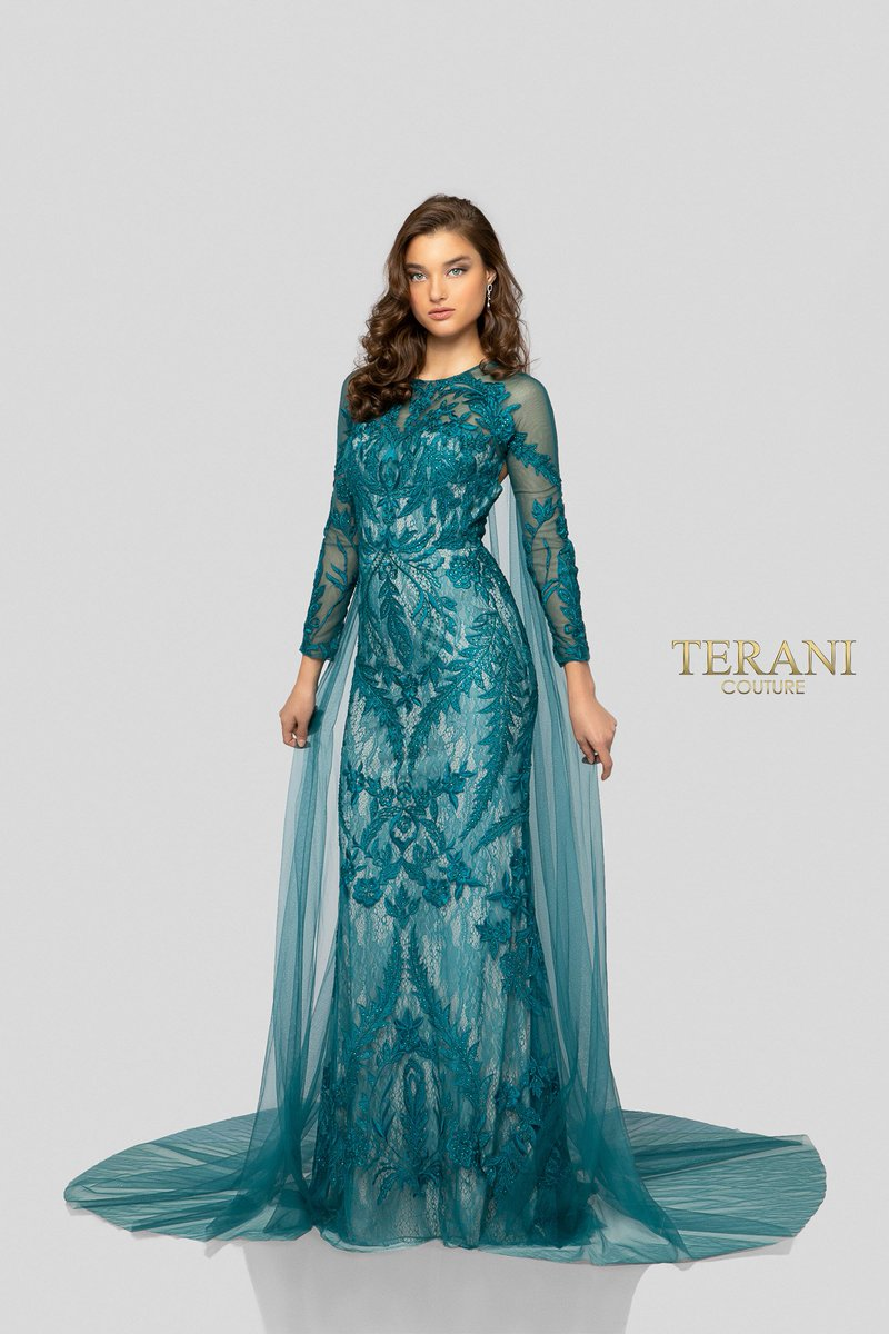 cac3b03ea57 Glamour By Terani Couture Short Sleeve Ball Gown - Gomes Weine AG