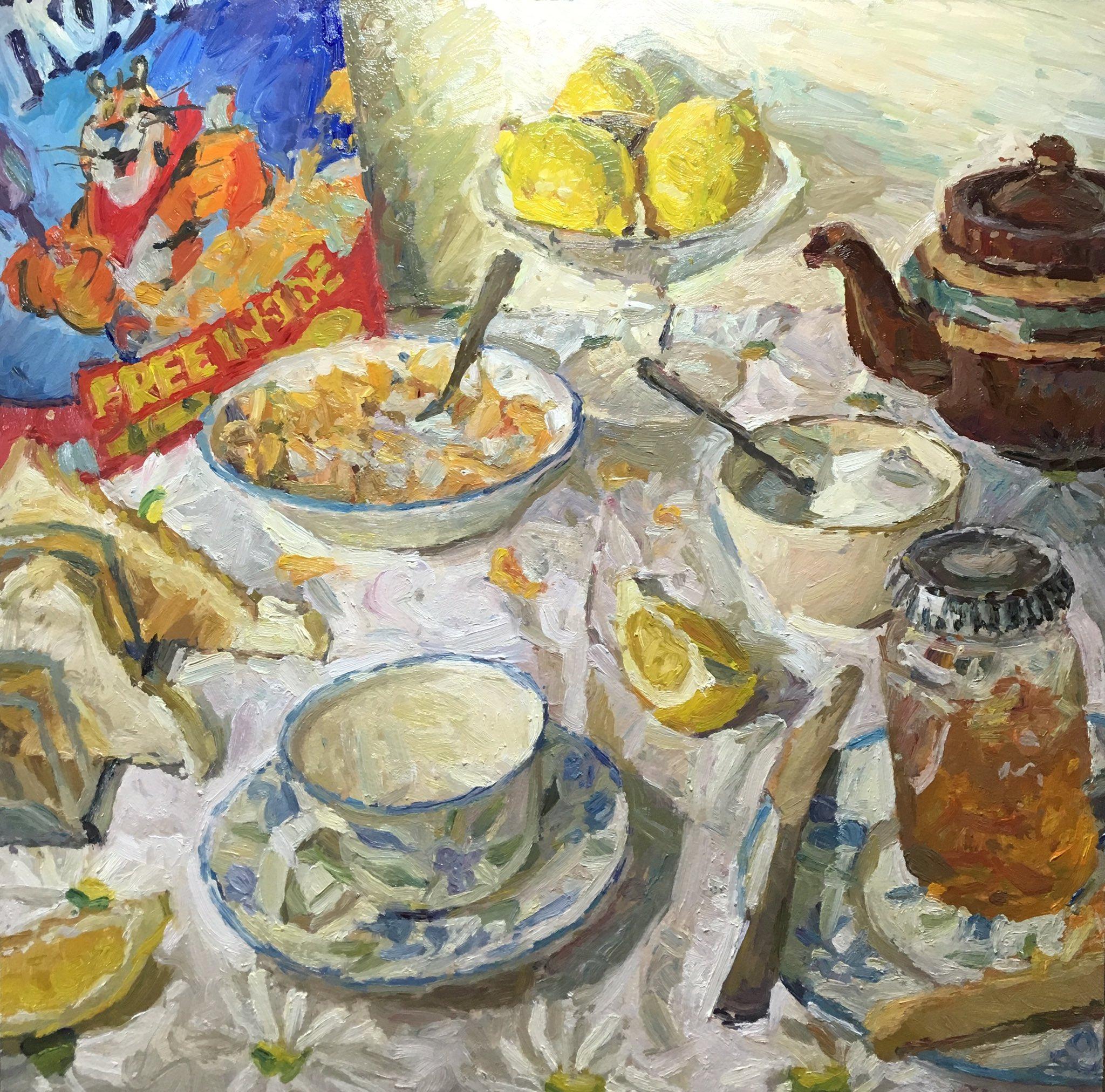"Adam Ralston Artist on Twitter: ""12x12 #tonythetiger #frosties #cereal  #breakfast #lemons #adamralstonart #marmalade #teapot #stilllifepainting  #sugar #teaandtoast… https://t.co/xQyBVGAPdU"""