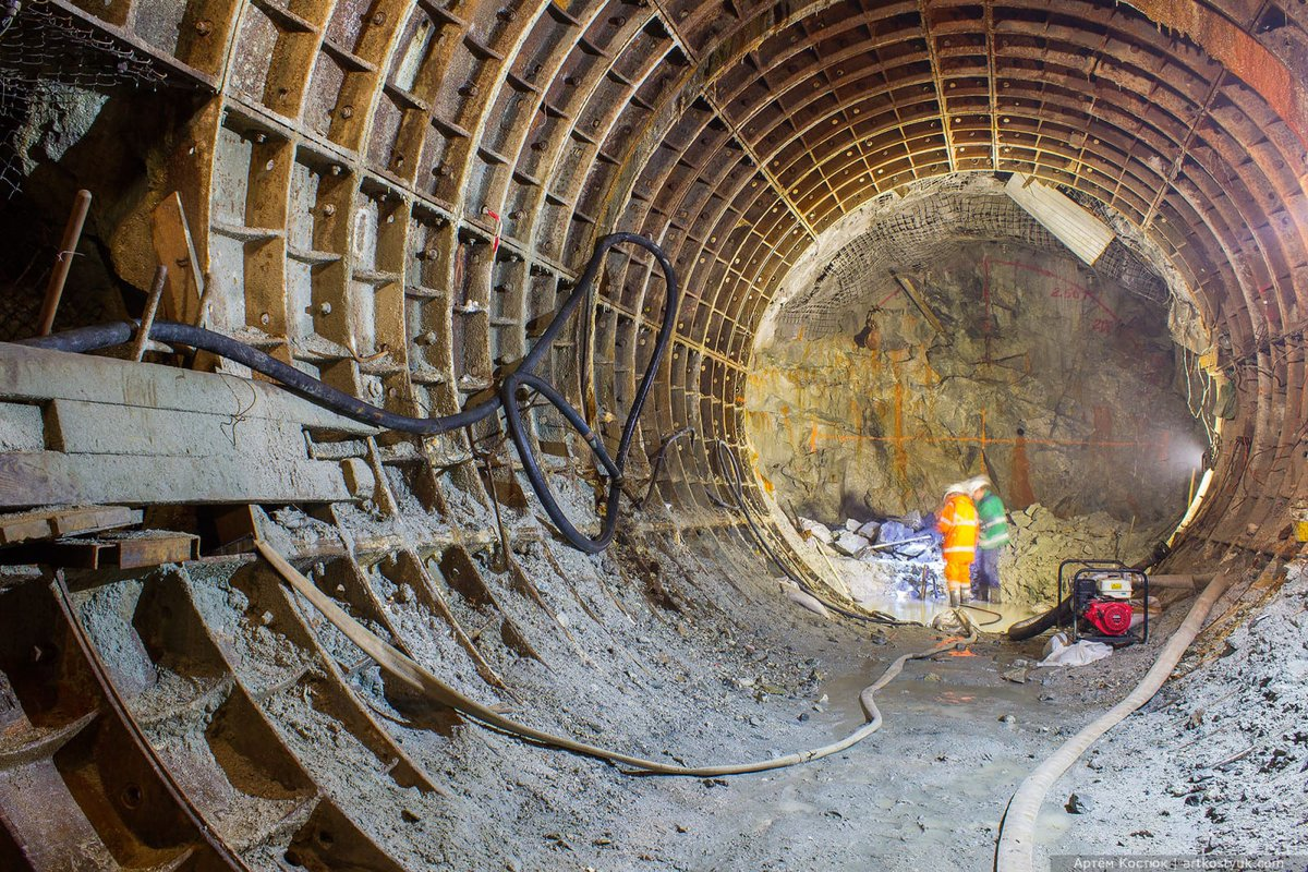 Картинка строительство метро