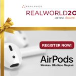 We'll ship a free pair of Apple AirPods to the first 100 people who register for #RealWorld19 before January 1st! Use promo code CHEERS at checkout now: https://t.co/QemIQLTQlX