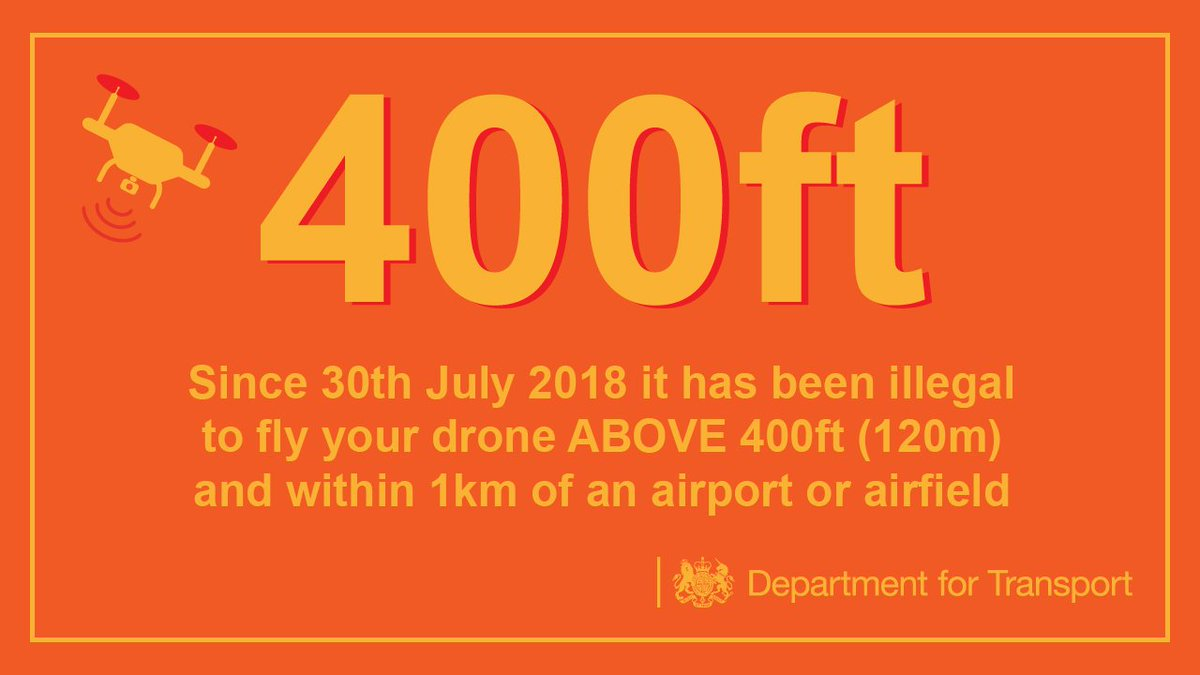 Our laws limit where you can fly a #drone to keep people safe: https://t.co/bhKgjxw1mT #GatwickDrones #DroneCode