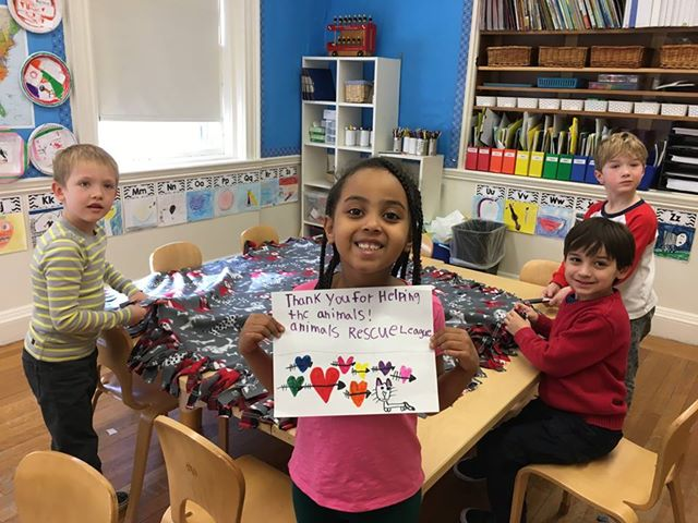 Can we give the awesome 1st graders a big high paw from @brimmerandmay? These kiddos donated a bunch of handmade blankets to the animals at our Dedham Adoption Center, just in time for the holidays! ❤
