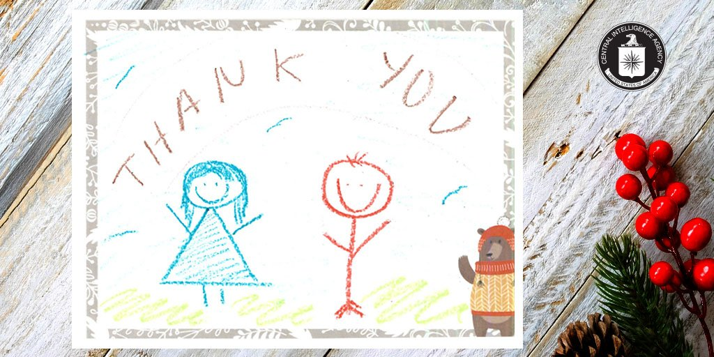 Here's a final set of our favorit #holidaye  messages the CIA family wrote for officers working oversea #CIAserves #service #HappyHolidayss.     Read about our letter-writing camphttps://t.co/BdCnGo3tCpaign:
