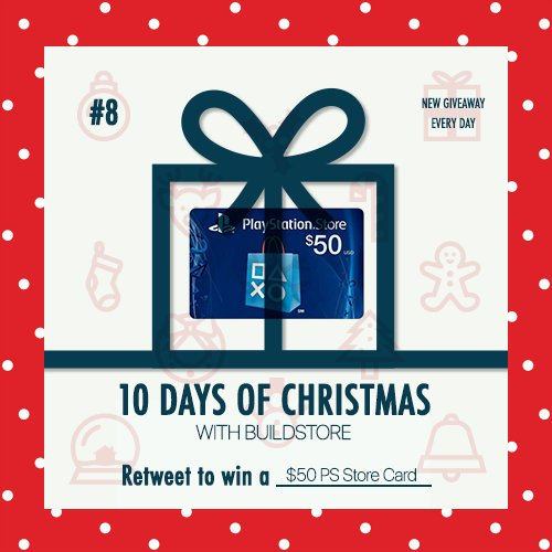 🎅 10 DAYS OF CHRISTMAS - №8 $50 PS Store card (or equivalent for EU/UK) for the W   Rules: 🎁 Just retweet to win. 💡 1 RT on your page = 1 raffle ticket. So if 10 of your friends RT from your profile you get 10 tickets. ⏰ We make a random drawing 1h before the next giveaway. https://t.co/Frq3Okxdxn