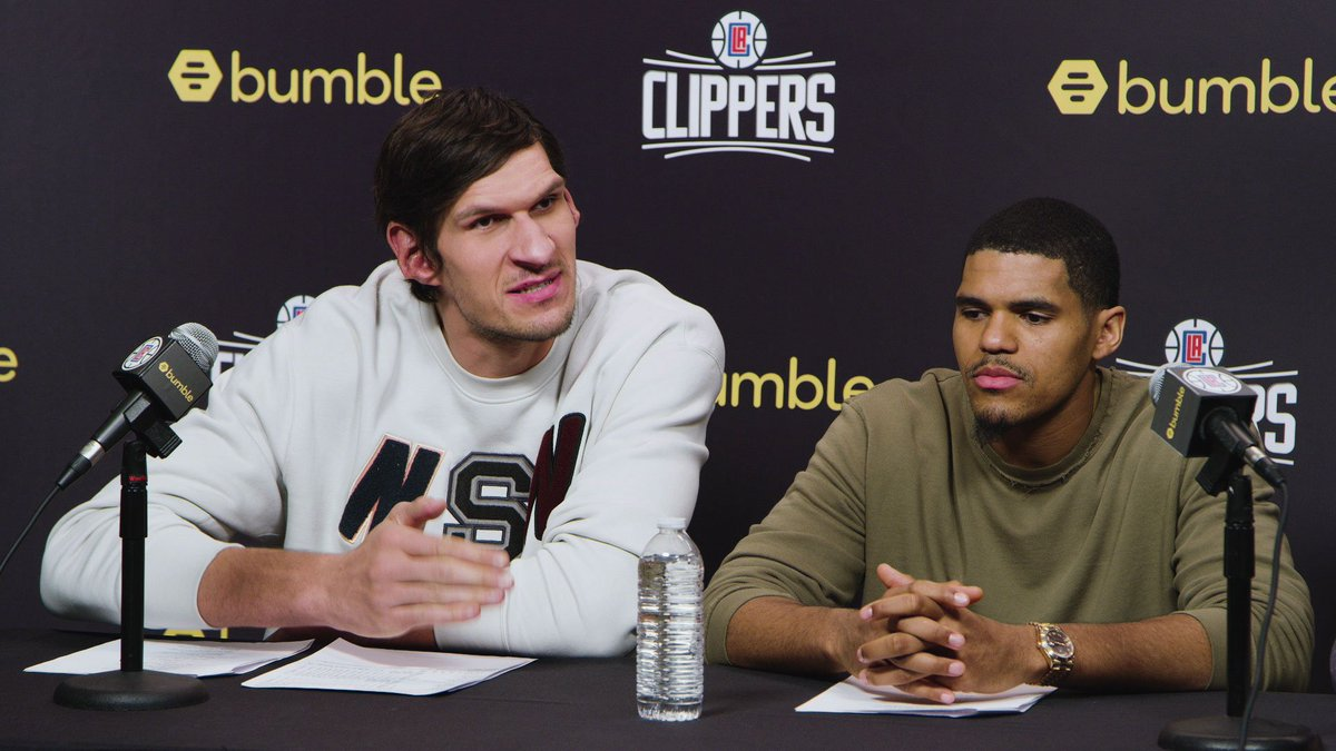BREAKING: Bobi + Tobi are adding a third member to their friend group, sources tell the LA Clippers.  @BobanMarjanovic   @tobias31   @bumble