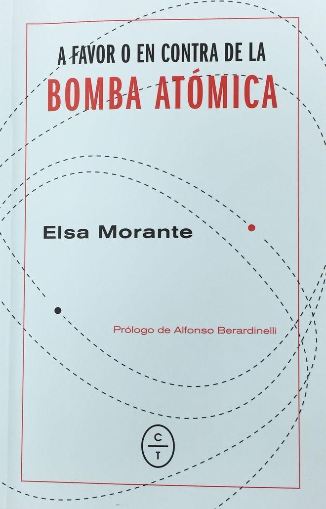 Decantación, 'A favor o en contra de la bomba atómica' de Elsa Morante por Javier Lorenzo Candel en #LosDiablosAzules  http://ow.ly/7XBW30n4uPC