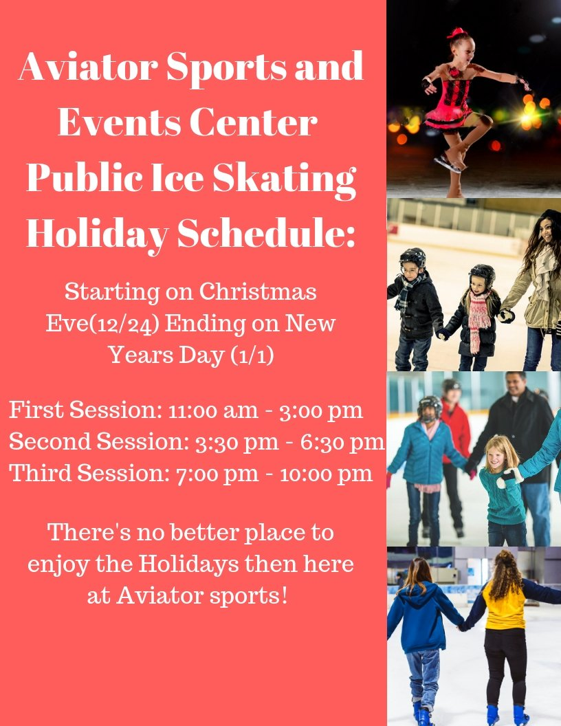 f1674144c9 ... Ice Skating Session between Christmas Eve and New Year's Day, so if you  to wrap up 2018 with a day out with friends & family,Aviator is the place  to ...