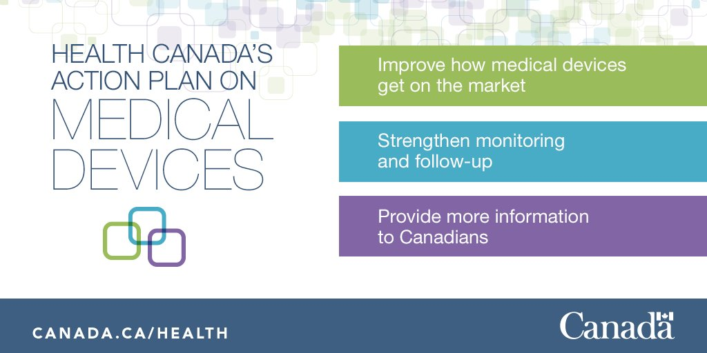 As part of its action plan on #medicaldevices, #HealthCanada will make clinical information and data about medical device incidents more easily available. #patientsafety http://ow.ly/n8Z630n3MES