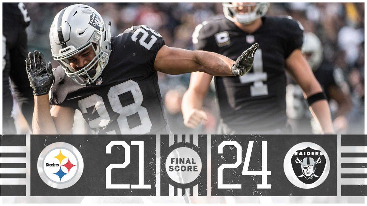 The Raiders get their 3rd win and stun the Steelers in Oakland!