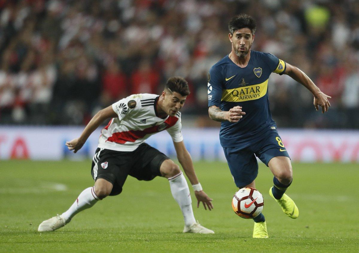 35´PT: River 0 - #Boca 0.  #VamosBoca 👊