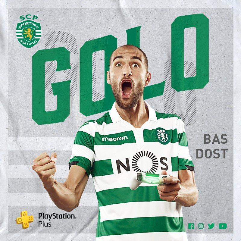 🎙GOLOOOOOOOOOOOOOOOOO!! BAS DOST ⚡!!!!  ⏱39' @Sporting_CP 1-1 @cdaves1930  #SportingCP #LigaNOS #DiaDeSporting