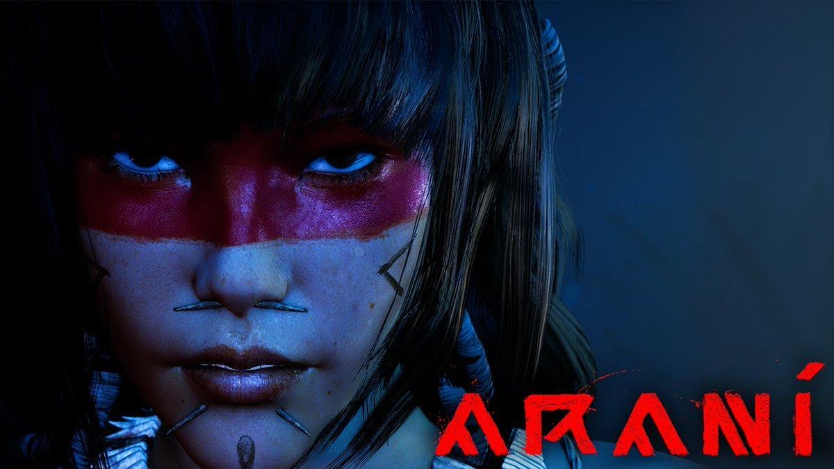gente recentemente fiquei sabendo de um jogo brasileiro sendo desenvolvido pra PS4, Xbox One e PC o jogo se chama 'Araní e tem fortes influências de God Of War e Devil May Cry repassem esse tweet pra podermos fazer a divulgação desse jogo que tem muito potencial.