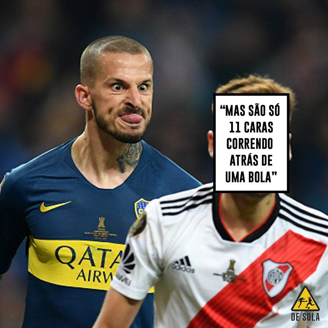 Ah, para de falar m*! 😂😂 #Libertadores2018