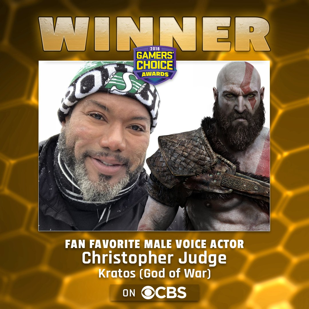 CONGRATULATIONS TO @iamchrisjudge For Fan Favorite Male Voice Actor!! #gamerschoiceawards