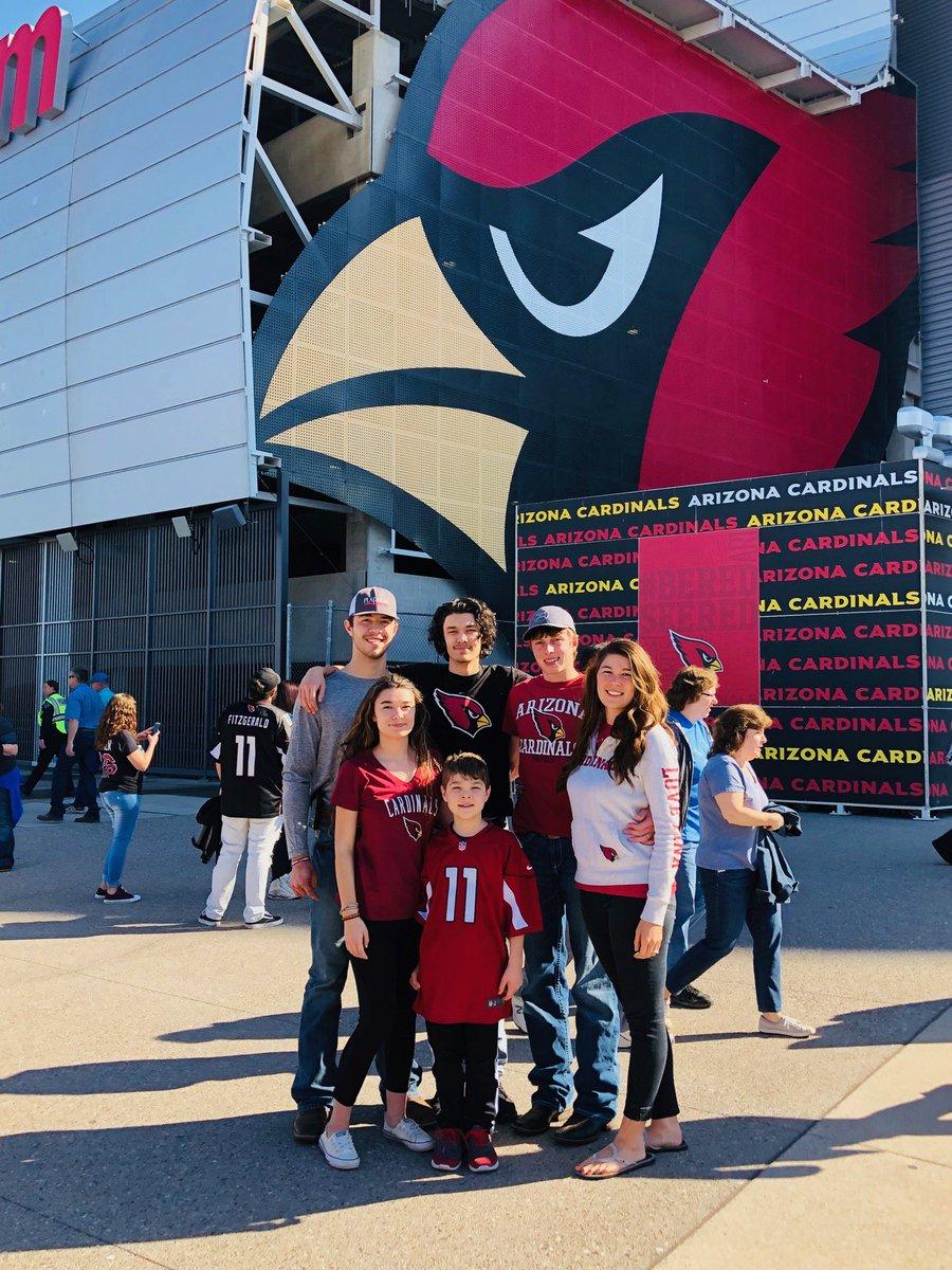 Traveled 1,400 miles from South Dakota to watch our favorite team!! Go Cardinals!  #BeRedSeeRed #teamtennyson #fightingleukemia