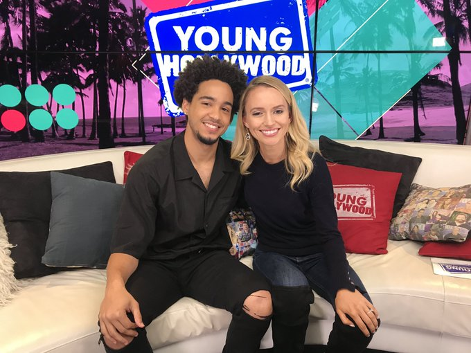 We loved having #BumblebeeMovie star Jorge Lendeborg Jr. in the studio today! He has us SO excited for the red carpet premiere tonight 🎬✨ Stay tuned to watch! @bumblebeemovie Photo