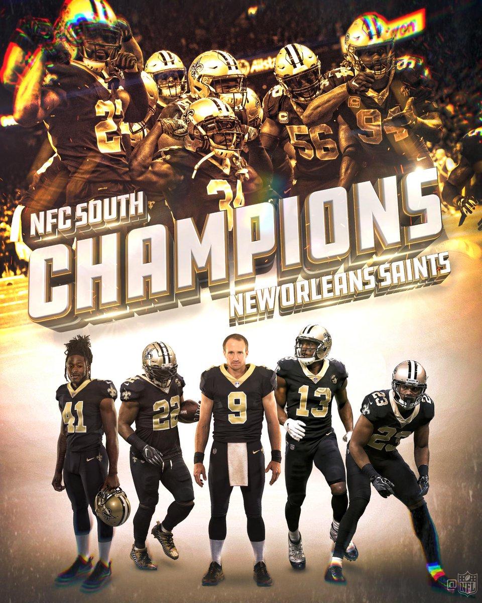 The @Saints are 2018 NFC South Champions! #GoSaints