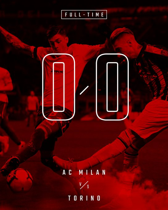 Gritty match it was, points are shared at San Siro Partita difficile, i rossoneri non riescono a sfondare #MilanTorino 0-0 Foto