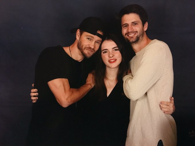 I finally met my ultimate duo, The duo of Scott's brothers 😭❤️ my ultimate goal Thank you so much @ThisIsLafferty and @ChadMMurray for this magical weekend I can't believe it's real, I lived a dream today #123Ravens Photo