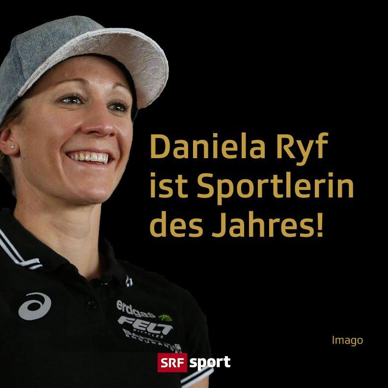 Triathletin @danielaryf gewinnt den Titel! #Gala #CreditSuisseSportsAwards #srfsports