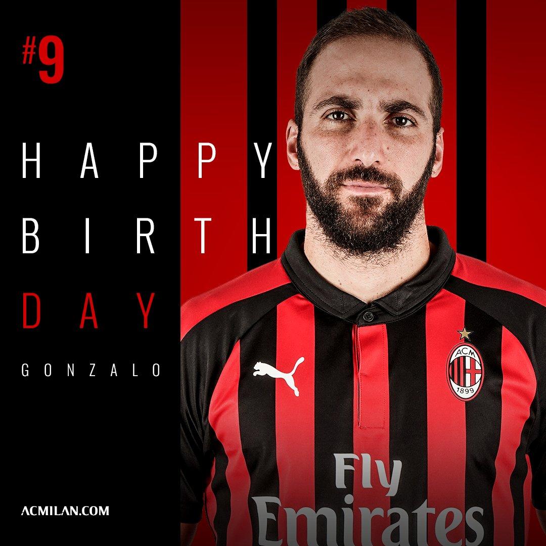 #HBD Wishing a very happy birthday to our #⃣9⃣  ¡Feliz cumple, Pipita! 🎂 Tanti auguri di buon compleanno Gonzalo! 🔴⚫