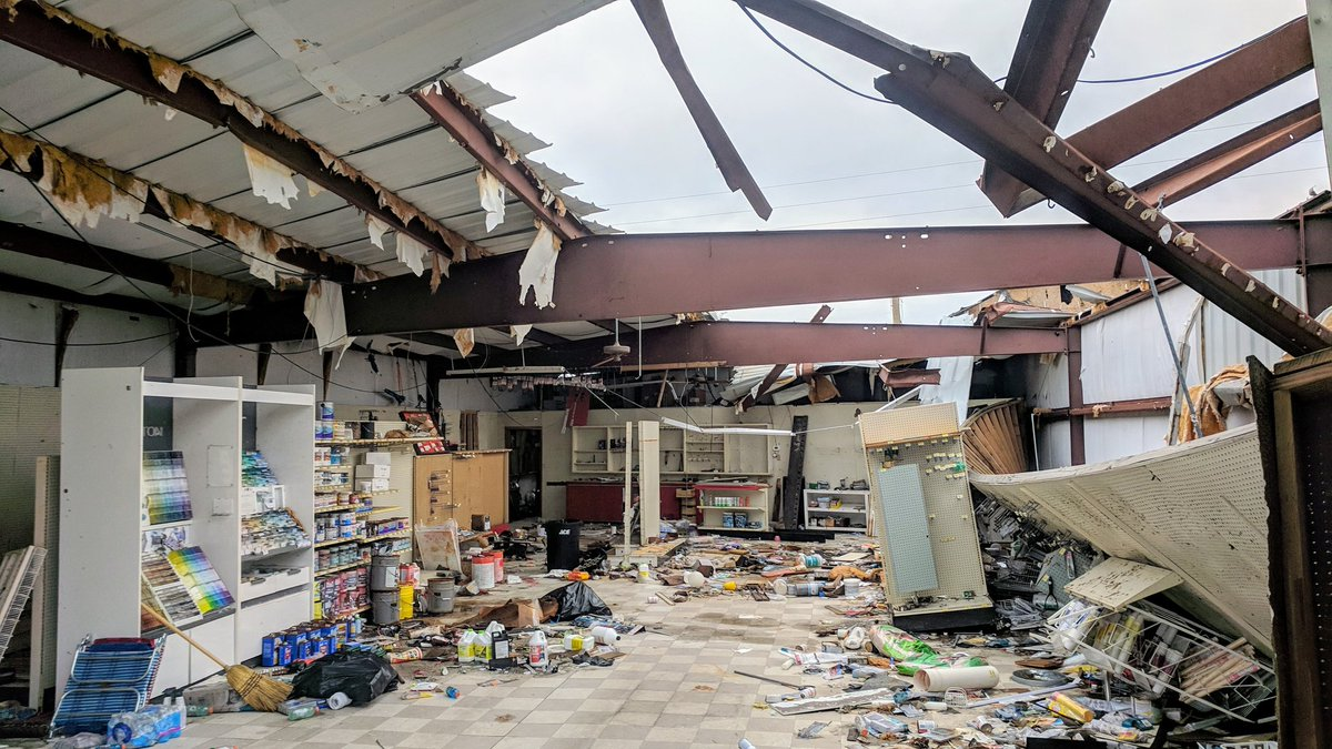 The Ace hardware store in Mexico Beach remains in a suspended state of destruction on Sunday (12/9/18), two months after Hurricane Michael made landfall on October 10, 2018 near Mexico Beach, with top sustained winds of 155 mph. #HUrricanemichael @TB_Times<br>http://pic.twitter.com/Kc7WnyZJrf