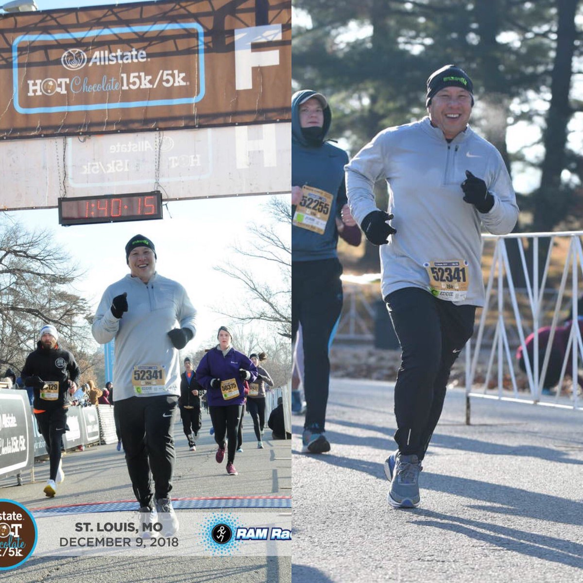 As most runners know, race pics are mostly a miss and capture the worst moments of a race. However, I like how these came out. #hc15k #runstl