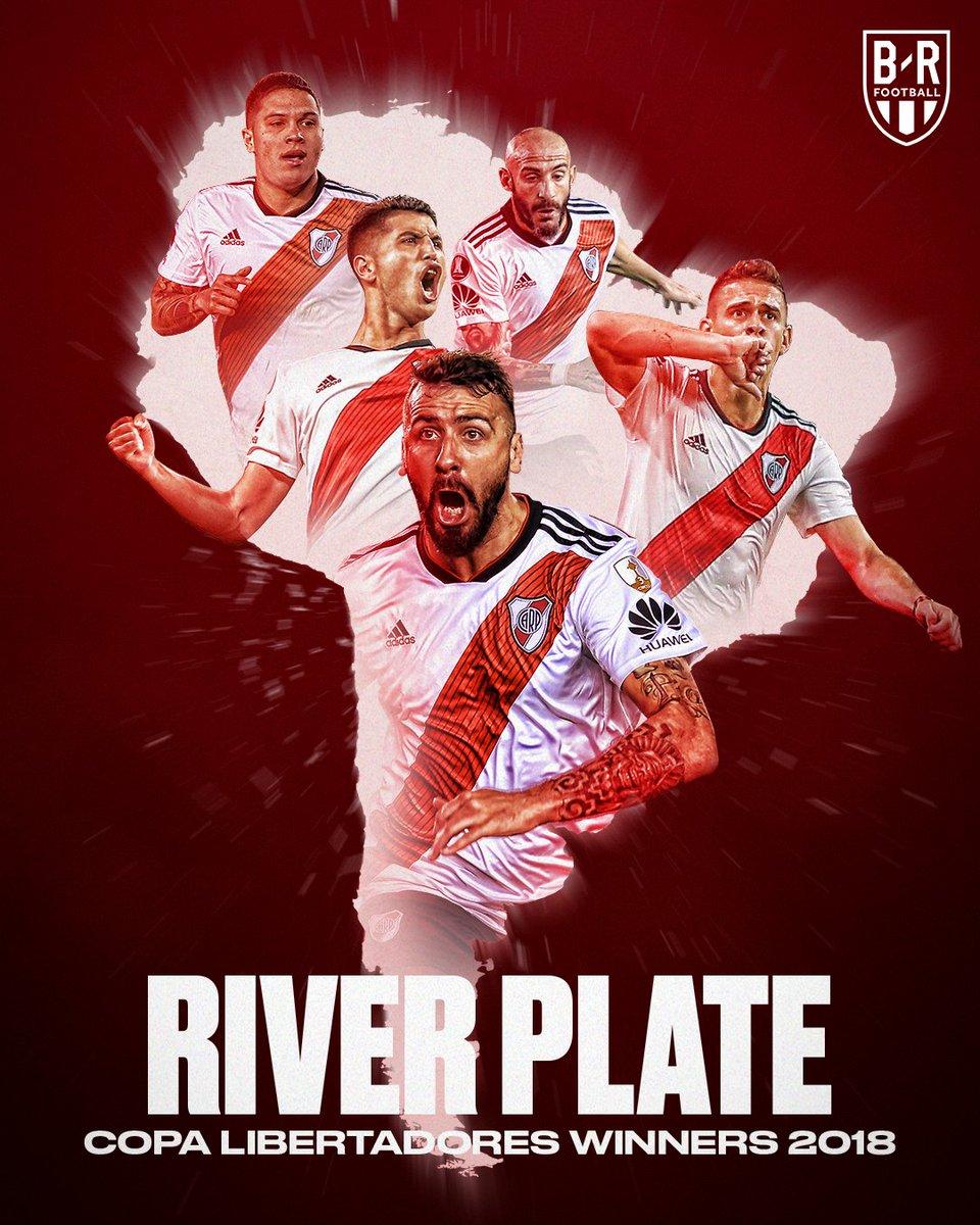 River Plate win the 2018 #CopaLibertadores! ⚪❤️