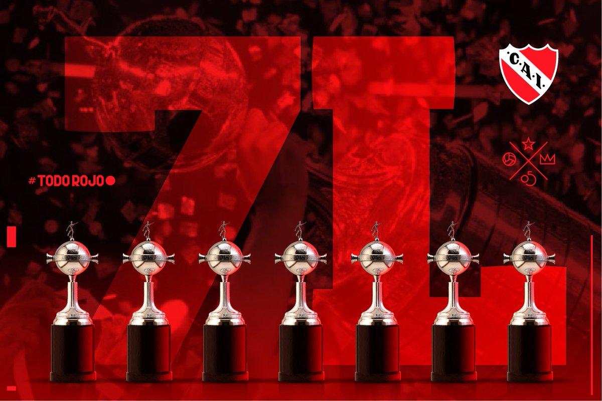 El máximo ganador histórico de la @Libertadores felicita a @CARPOficial por la obtención de su cuarta copa.  #ELÚNICOREY #TodoRojo 🔴
