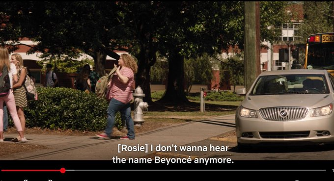 Watching Dumplin' on @netflix. It's so cute. I love a good fat girls be winning film. Except this part. I will square up on Rachel from Friends 😂 Photo