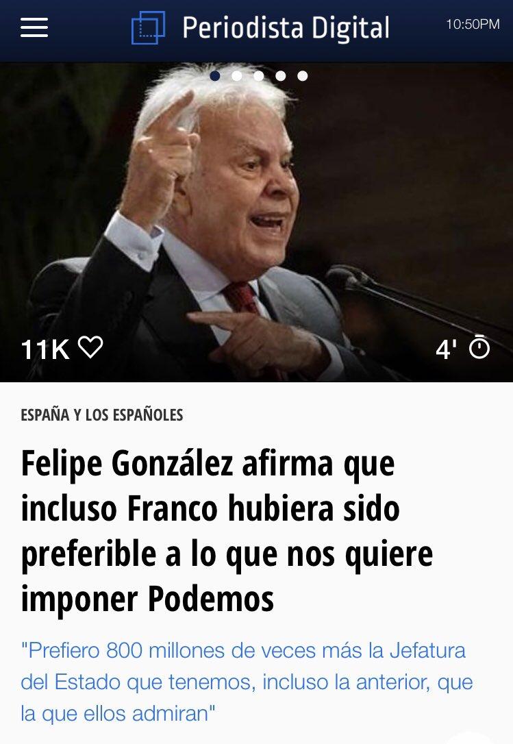 Dos titulares juntos se entienden mejor... #FelipeGonzález dixit